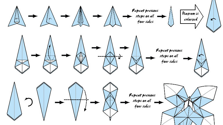 Cómo hacer un arbol de navidad en origami