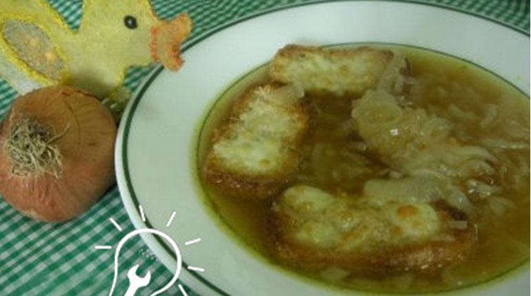Cómo hacer una Sopa de Cebollas