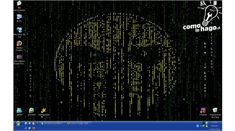 Cómo dejar nuestro fondo de pantalla al estilo Matrix