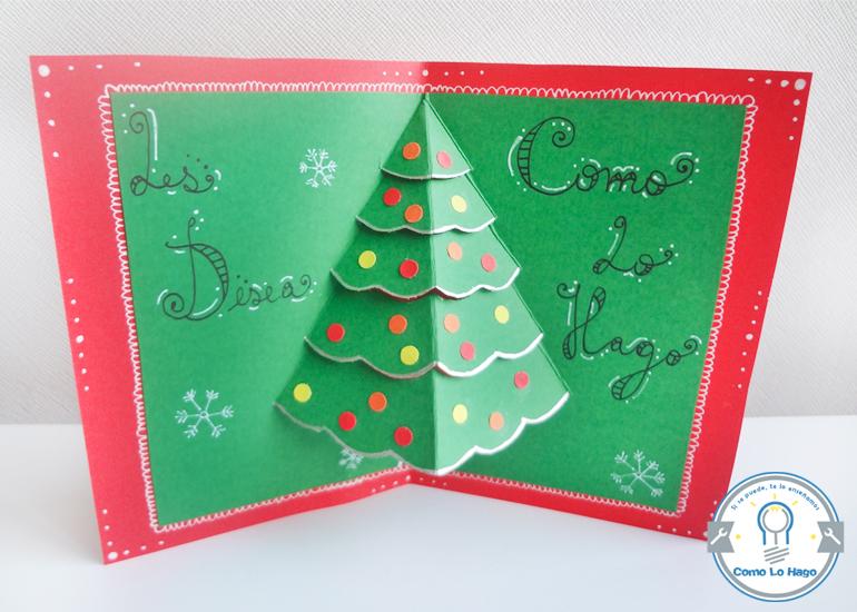 C mo lo hago c mo hacer una tarjeta navide a for Manualidades navidenas con cartulina