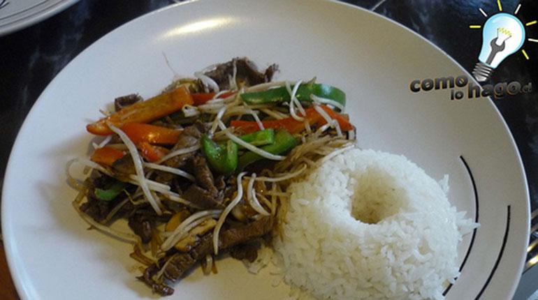 Cómo preparar Carne al Estilo Oriental