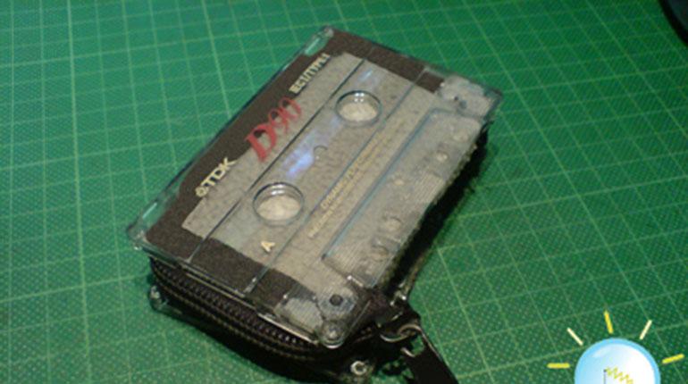 Cómo hacer un monedero de cassette
