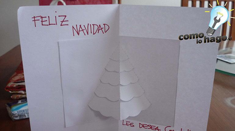 Cómo hacer una tarjeta Navideña