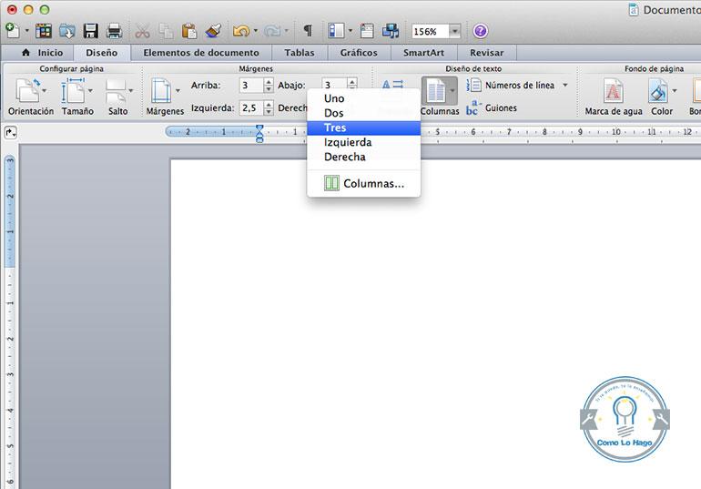 como puedo hacer un triptico en word mac