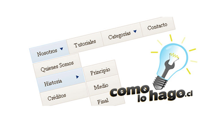 Cómo crear un menu desplegable para Web