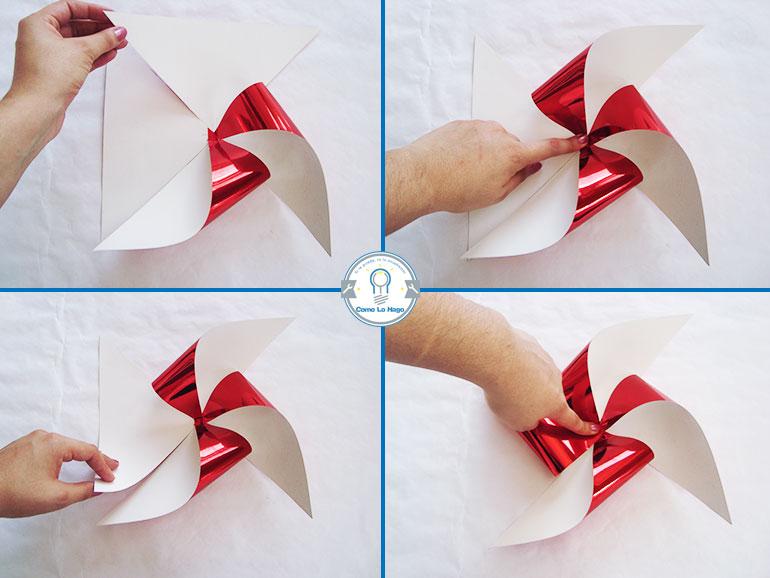 Armado 2 - Cómo hacer un remolino de papel