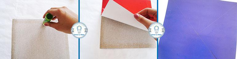 Pegar papeles - Cómo hacer un remolino de papel