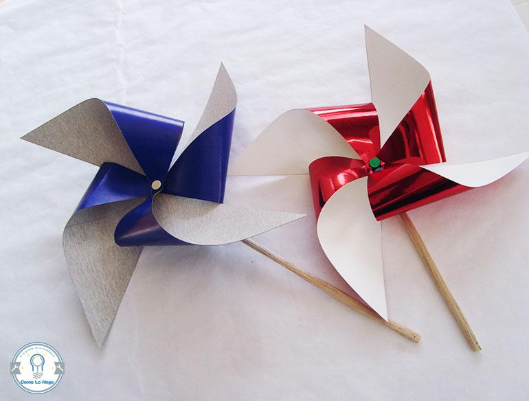 Remolinos de colores - Cómo hacer un remolino de papel.