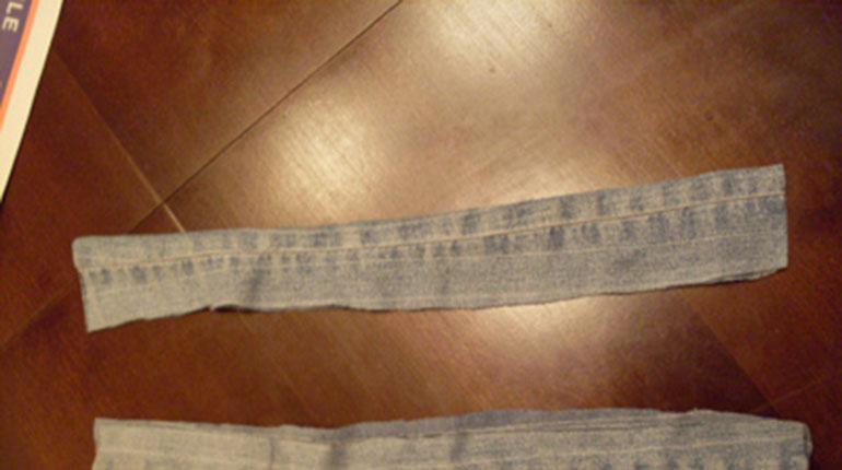 Cómo hacer un bolso de unos jeans