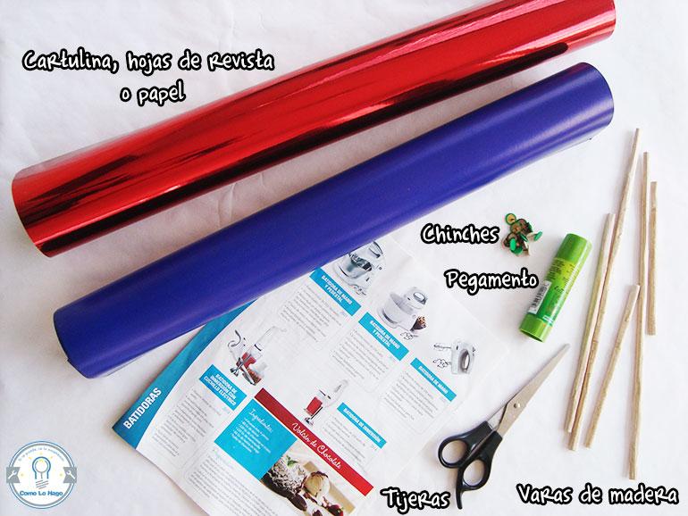 Materiales - Cómo hacer un remolino de papel