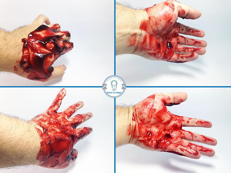Resultado final - Cómo hacer sangre falsa