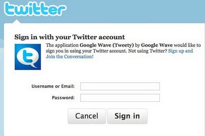 Twitter <3 Google Wave