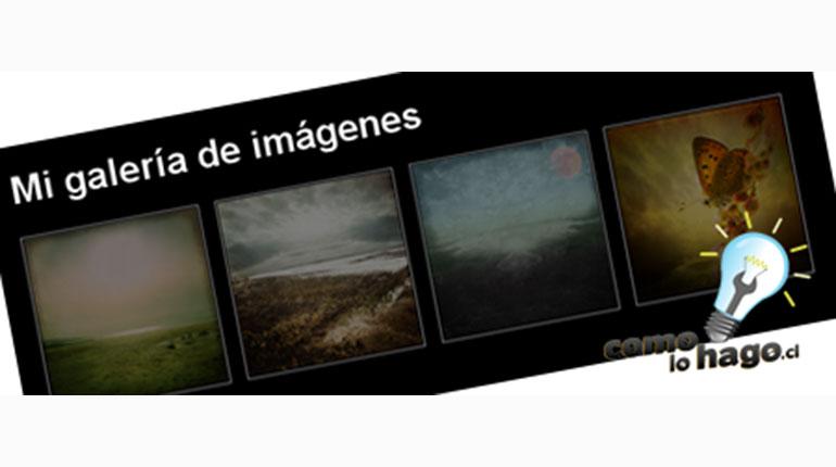Cómo crear una galería de imágenes para tu Web