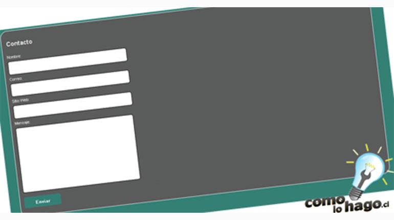 Cómo crear un formulario de contacto – Versión 2.0