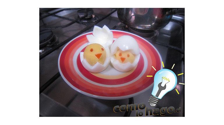 Cómo hacer huevitos pollitos