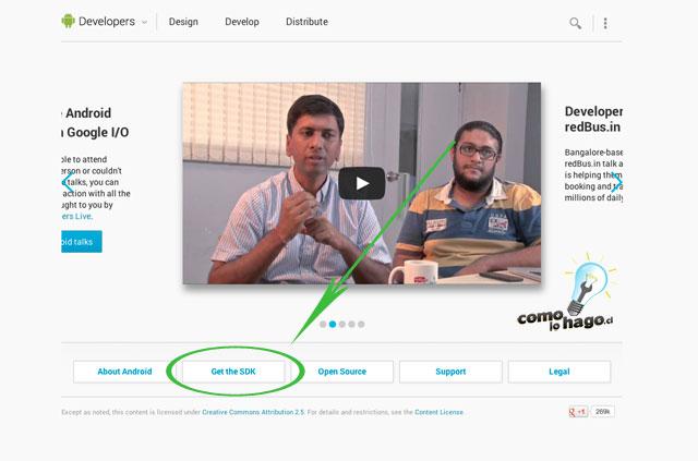 Sitio Web de desarrolladores de Android