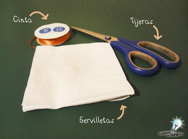 Cómo hacer un pompón con servilleta