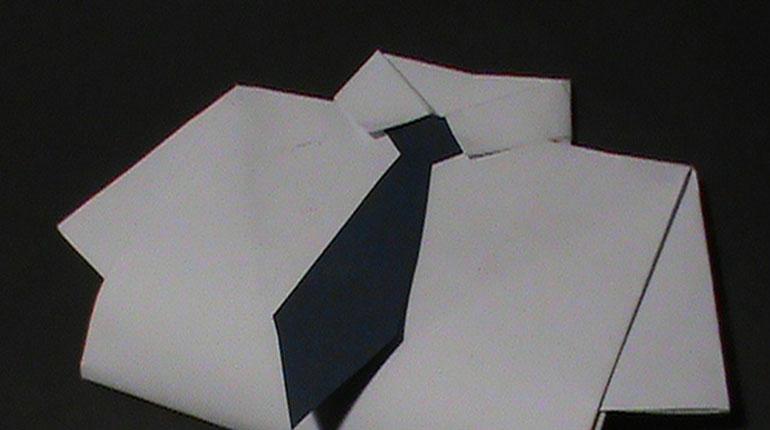 Cómo hacer una tarjeta para el día del padre en forma de camisa