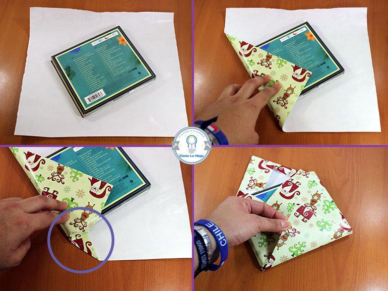 doblar papel de regalo