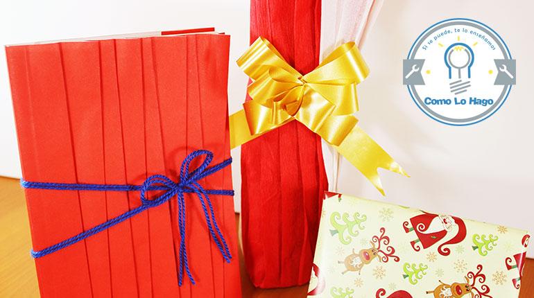 Cómo envolver regalos de manera diferente.