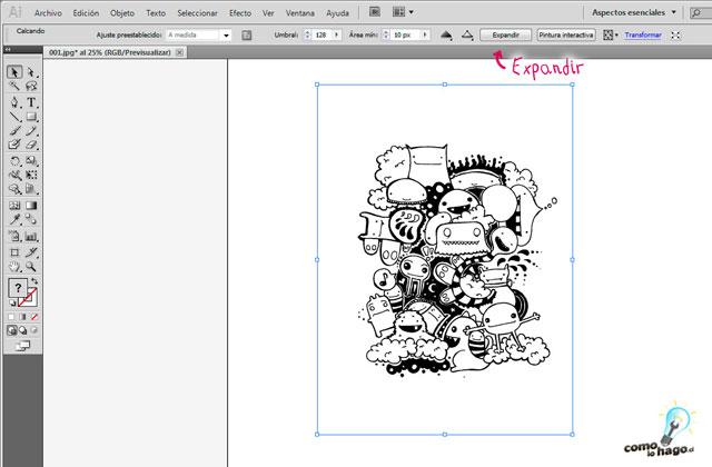 Cómo vectorizar ilustraciones utilizando calco interactivo