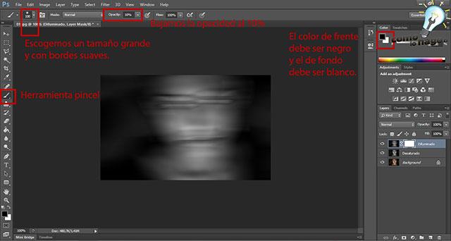 Como fantasmizar una imagen en Photoshop