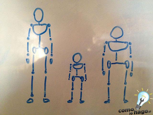 Como dibujar un esqueleto para nuestras figuras