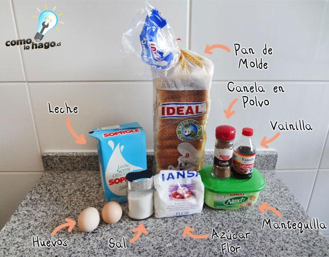 Ingredientes - Cómo hacer tostadas francesas