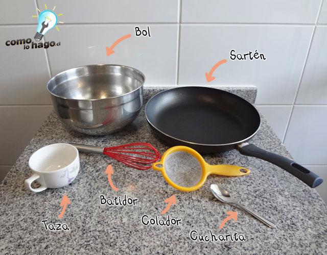 Materiales - Cómo hacer tostadas francesas