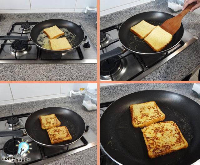 Tostadas en la sarten - Cómo hacer tostadas francesas