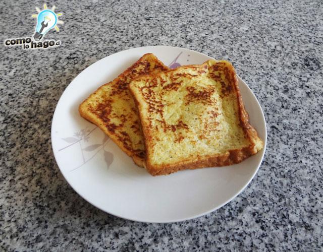 Tostadas listas - Cómo hacer tostadas francesas