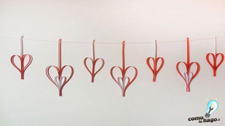 Cómo hacer guirnaldas de Corazón para San Valentín – Parte 1