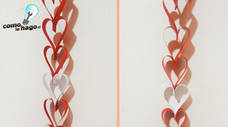 Cómo hacer guirnaldas de Corazón para San Valentín – Parte 2
