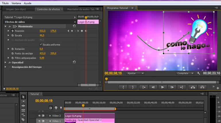 Cómo mover una imagen dentro de un video utilizando Adobe Premiere Pro