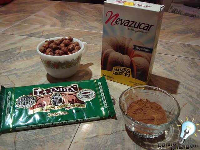 Ingredientes - Cómo hacer nutella casera