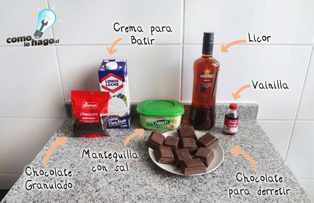 Ingredientes - Cómo hacer una marquesa de chocolate