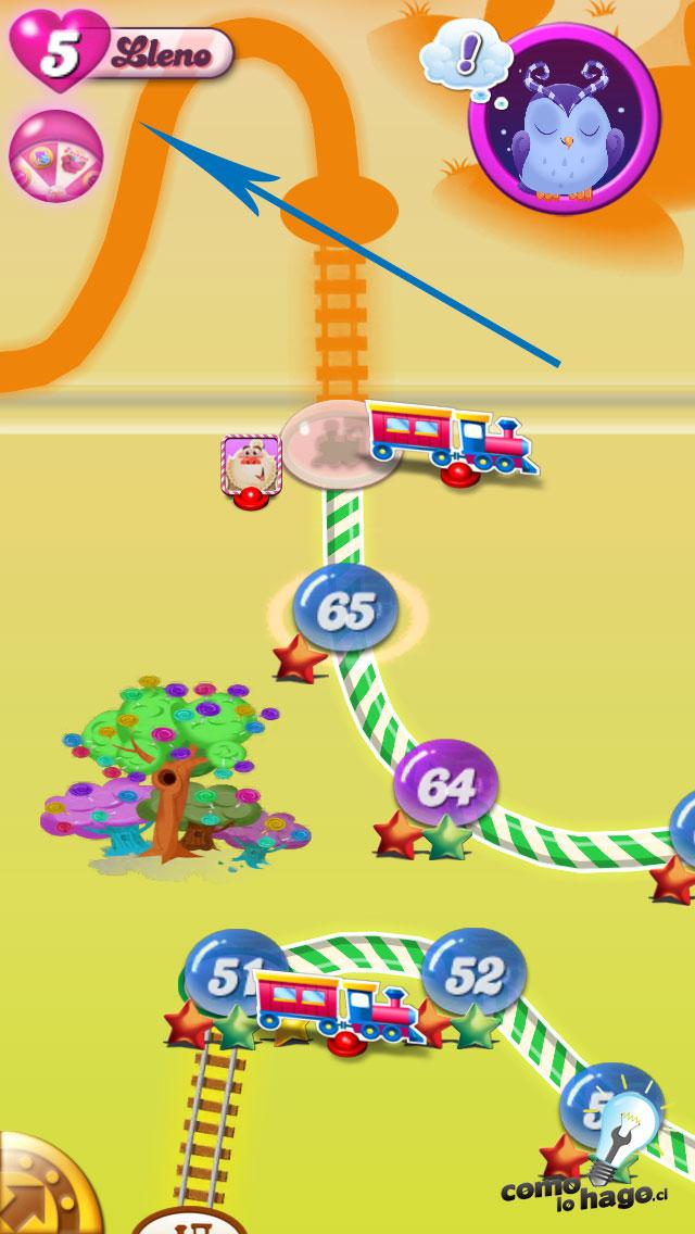 Vidas completas - Cómo obtener vidas gratis en Candy Crush