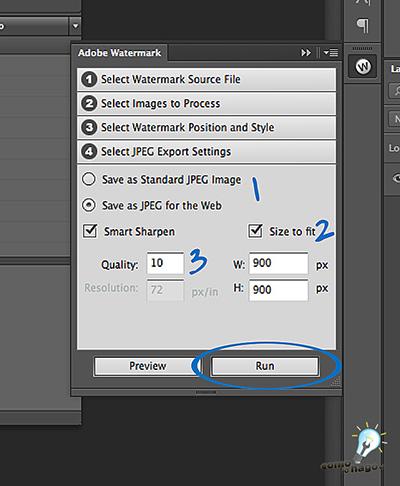 Ejecución - Cómo marcar tus fotos automáticamente en Photoshop