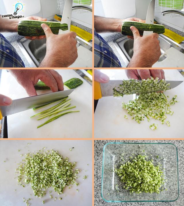 Cortando la cáscara - Cómo hacer un pebre de zapallo italiano