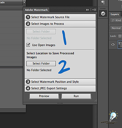 Selección de imágenes y destino - Cómo marcar tus fotos automáticamente en Photoshop