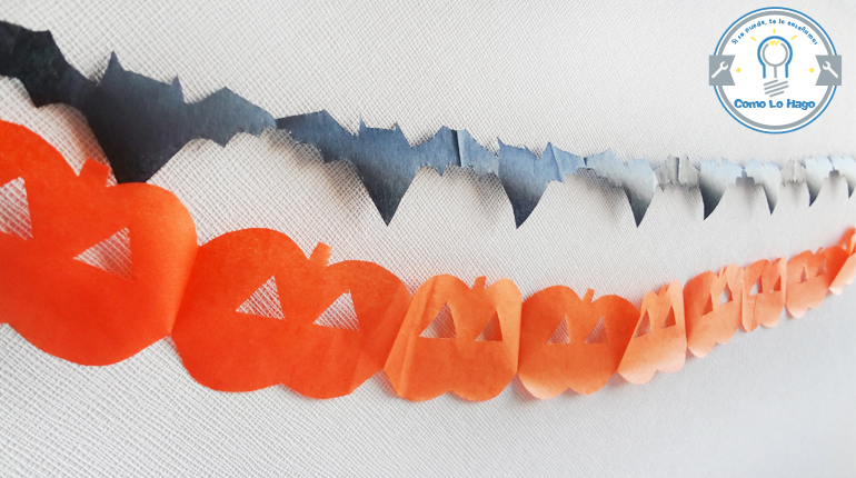 cmo hacer guirnaldas para halloween - Hacer Guirnaldas