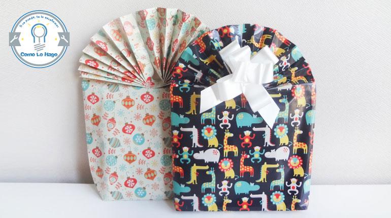 Cómo hacer una bolsa de regalo con abanico