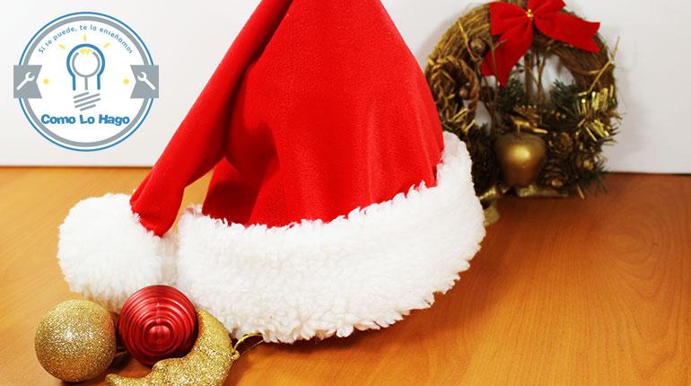 Cómo hacer un gorro de navidad